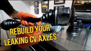 HOW TO REBUILD CV AXLES IN 10 MINUTES
