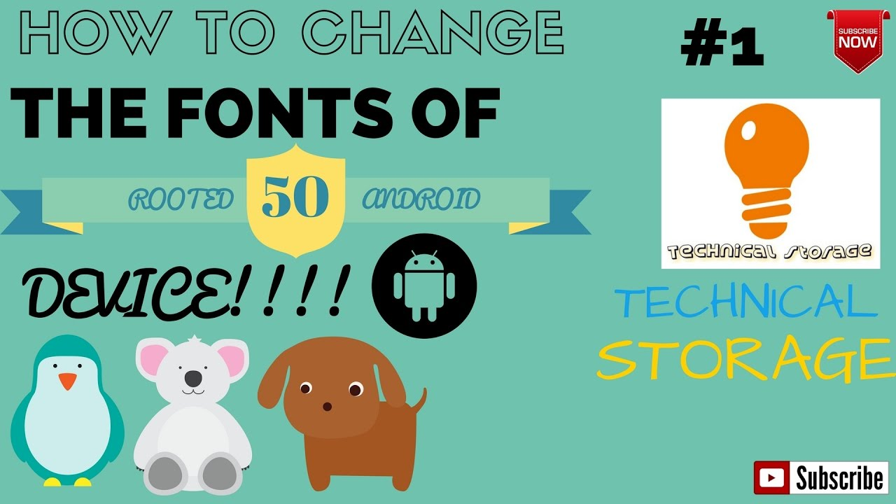 how to change font on android
