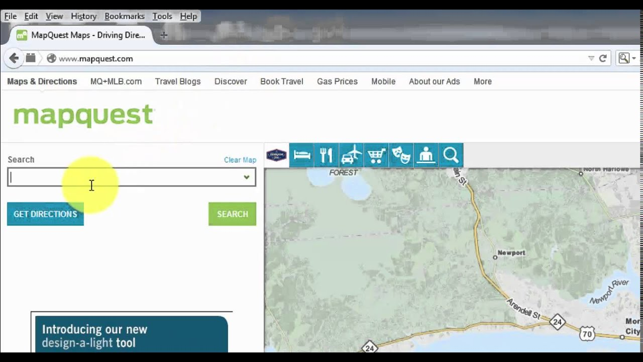 How to Use Mapquest - YouTube