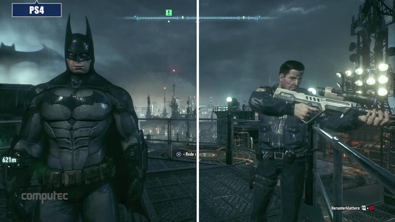 Batman Arkham Knight Pc Vs Ps4 Vs Xbox One Grafikvergleich