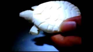 DIY Tutorial membuat kerajinan tangan ukiran patung kura-kura dari sabun   Turtle Soap Carving
