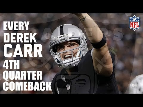 Every Derek Carr 4th Quarter Comeback! | NFL