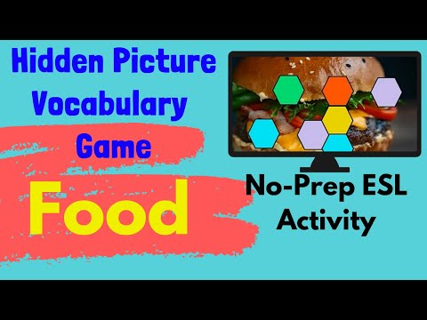 ESL Game | Food Vocabulary | Hidden Picture Guessing Game