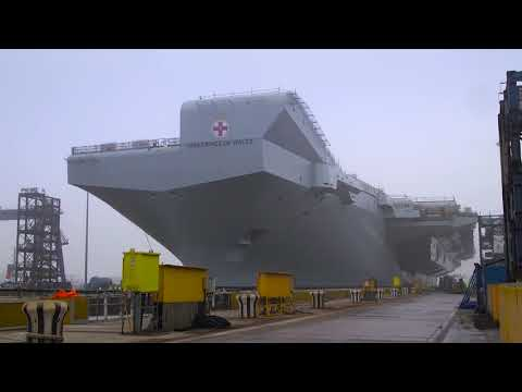 HMS Prince of Wales construction time-lapse and float-out