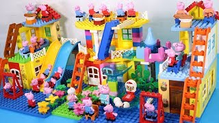 Peppa Pig Lego House Creations With Water Slide Toys For Kids #13