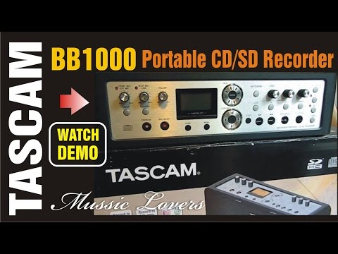 Tascam BB-1000 Portable CD SD MP3 recorder Demo