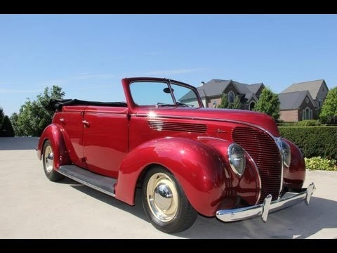 1938 ford 4 door convertible classic muscle car for sale in mi vanguard motor sales youtube. Black Bedroom Furniture Sets. Home Design Ideas