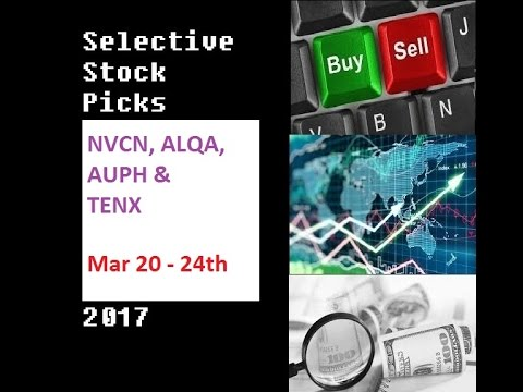 Stock Picks for March 20 to 24th