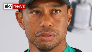 Tiger Woods taken to hospital after being injured in car crash in Los Angeles