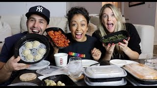 CHINESE FOOD MUKBANG ft LIZA KOSHY AND MY WIFE! PART 2