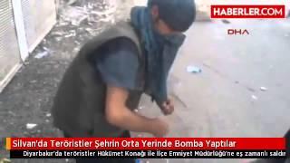 Silvanda Teröristler Şehrin Orta Yerinde Bomba Yaptılar