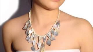 Bedido - joyas de las damas al por mayor, collar de conchas, pulseras de madera Thumbnail