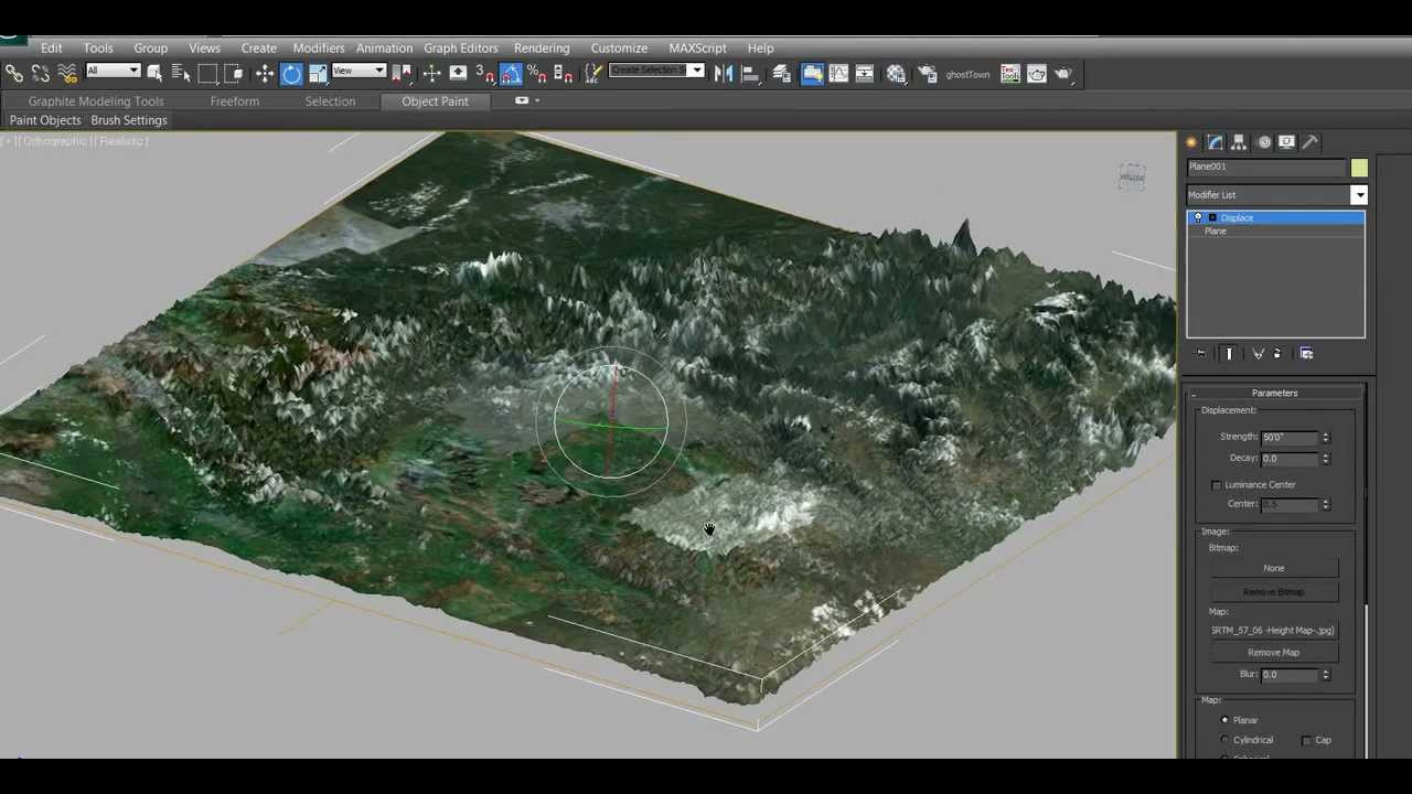 Creating a highly detailed 3d terrain in 3ds max with Google 3d software