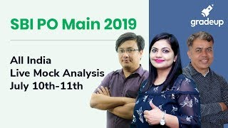 SBI PO Mains All India Mock (10th July-11th July):Live video analysis