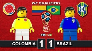 Colombia vs Brazil 1-1 • World Cup 2018 Qualifiers (05/09/2017) • Lego Highlights Film Brasil CBF