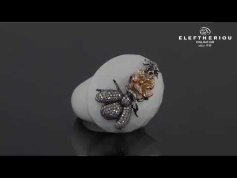 Δαχτυλίδι ροζ χρυσό   λευκόχρυσο Κ18 με Διαμάντια   Όνυχα - 18K Diamond  Ring - MD0139200018 09aa3c9dc6e