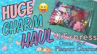 🎀HUGE KAWAII CHARM HAUL 2018!!🎀 RESIN CHARMS, PLANNER CHARMS, ALIEXPRESS CHARM HAUL