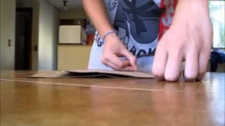 como dobrar uma folha A3