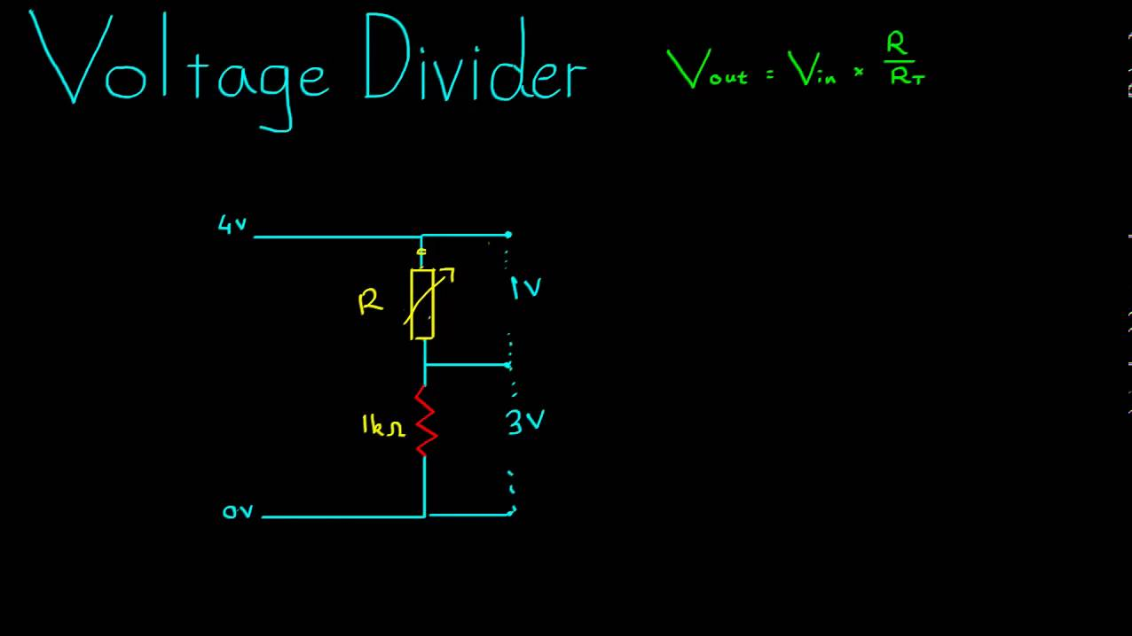 Voltage Dividers Example Youtube Divider Circuit