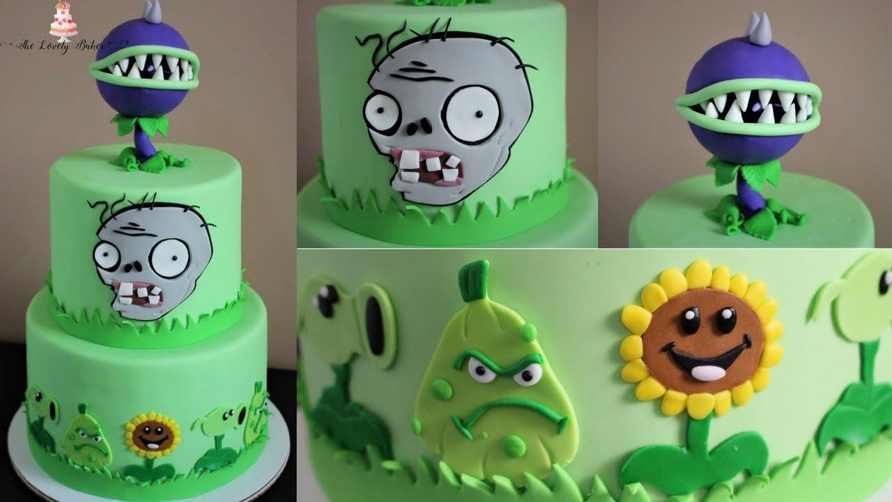 Plants Vs Zombies Cake Tutorial Youtube