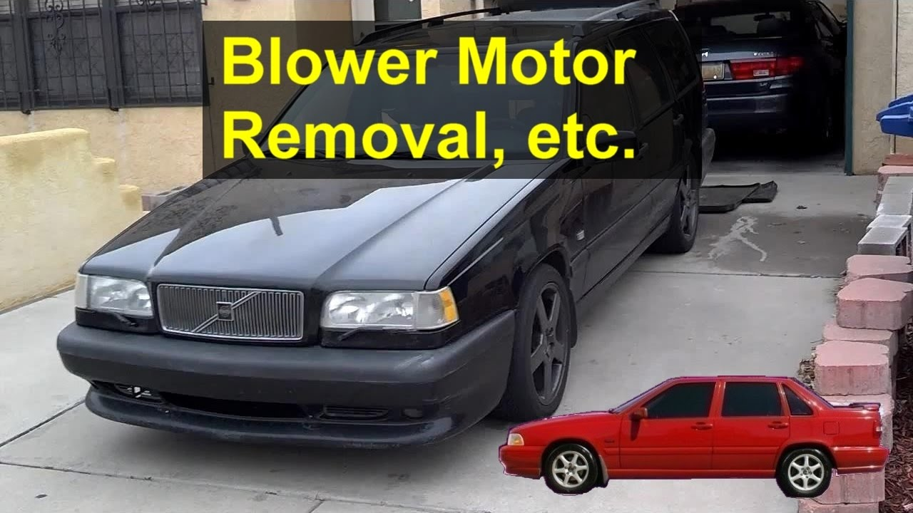 small resolution of cabin blower motor removal lubrication replacement volvo 850 s70 v70 etc votd