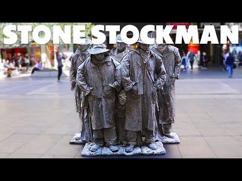 The Stone Stockmen - Iconic Living Statue Street Performer