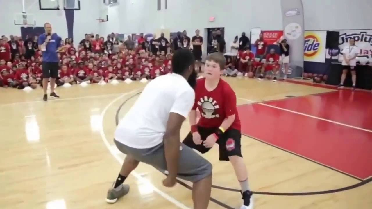 9fd464a96f6a James Harden SCHOOLS kid at his summer camp - YouTube