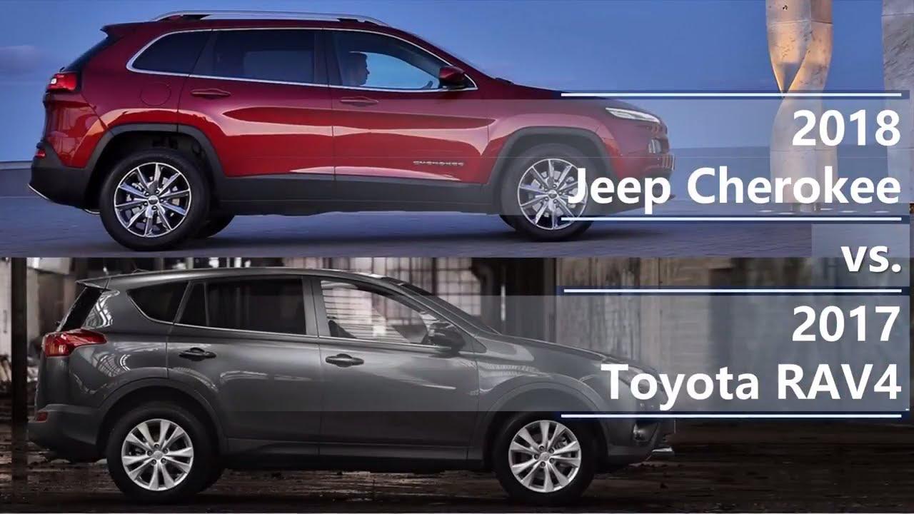 2018 Jeep Cherokee vs 2017 Toyota RAV4 (technical ...