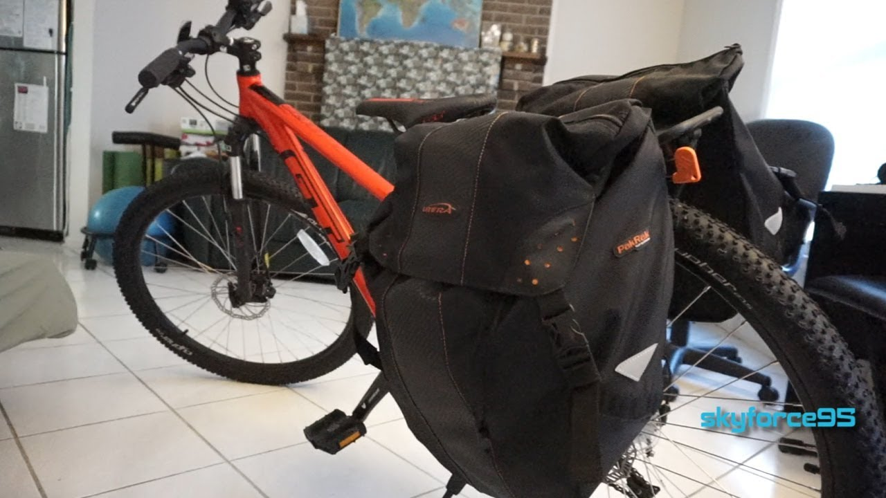 IBERA Bicycle Bag PakRak ClipOn Quick Release All Weather Bike Panniers Pair