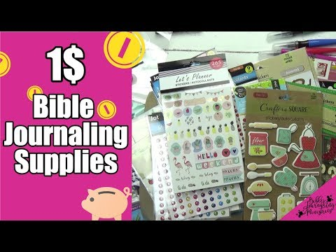 Bible Journaling Dollar Tree Haul