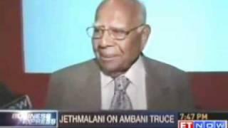 Ram Jethmalani: Ambani brothers patch up good for country