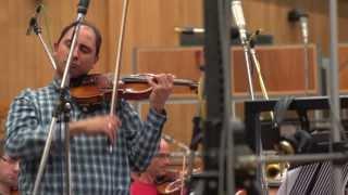 "Carmine Lauri recording ""Intermezzo No. 2"" by Olivier Truan with London Symphony Orchestra"