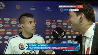 Kun Aguero cuenta Divertida anecdota Con Lionel Messi Copa américa 2015