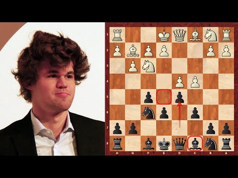 World Chess Champion: Magnus Carlsen plays the Dutch Stonewa