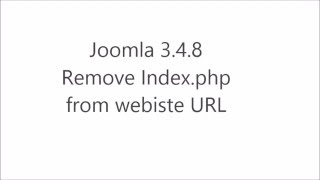 Joomla 3.4.8 Remove index php from url