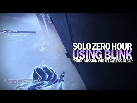 Solo Zero Hour w/ Blink Warlock (Flawless) [Destiny 2]