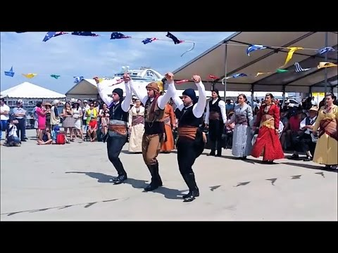 Pontian Dancers performed at Theofania Festival 2017 Princes Pier Port Melbourne Australia
