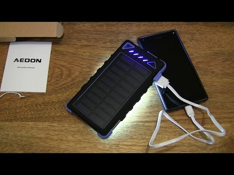 Aedon A1 10000mAh Solar Power Bank