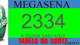 #MEGASENA2334##MEGASENA#CONCURSO MEGA-SENA #2334 DICAS DOS NUMEROS E TABELA DA#SORTE.#MEGA SENA