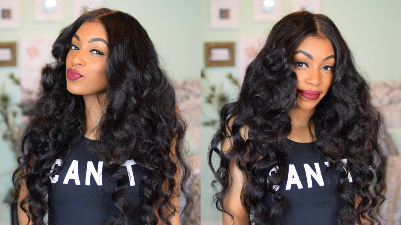 Easy Wand Curls Ft Brazilian Straight Lace Frontal