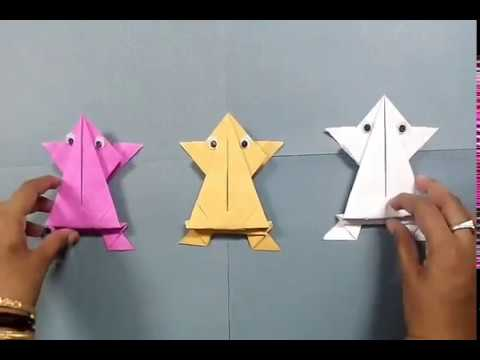 How to make origami paper frog