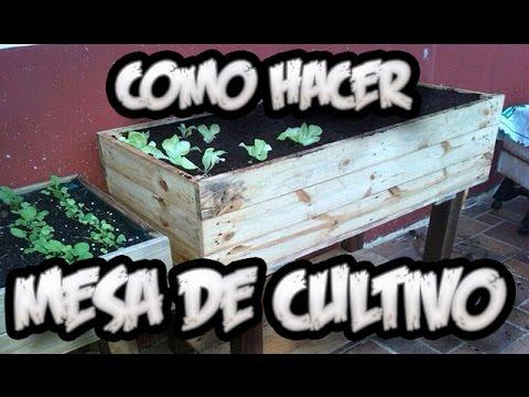 Como hacer una mesa de cultivo con palets huerto urbano for Mesa de cultivo casera