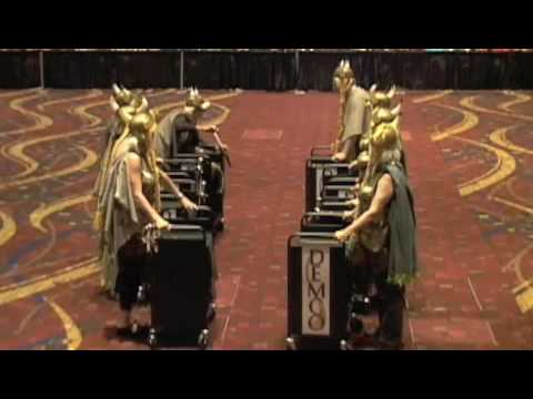 OPL Warrior Librarians 1st place Book Cart Drill Team ALA 2009
