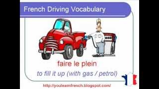 French Lesson 110 - Driving Vocabulary Traffic lights Road signs Transportation - Conduire