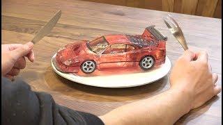 食べられるフェラーリを作ってみた結果。JAPANESE CANDY ART【Ferrari F40 LM】 thumbnail