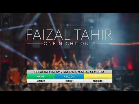 Faizal Tahir - Selamat Malam / Sampai Syurga / Semesta (LIVE from Dewan Filharmonik Petronas)