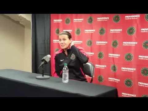 Christine Sinclair Post Game Interview | Portland Thorns FC 4, Washington Spirit 1 5.21.16