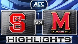 NC State vs Maryland Basketball Highlights 1/16/13