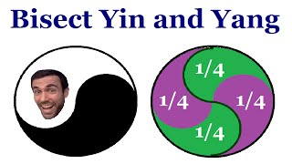 Bisecting Yin And Yang  - Brain Teaser