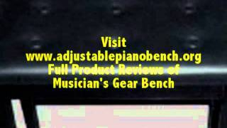Best Musician's Gear Adjustable Piano Bench Reviews